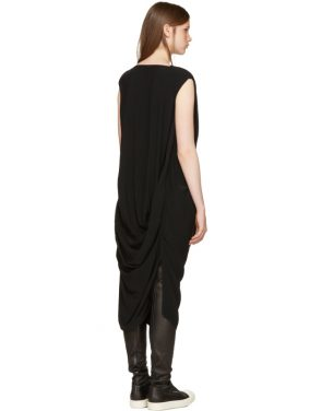 photo Black Nouveau Dress by Rick Owens - Image 3