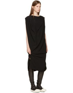 photo Black Nouveau Dress by Rick Owens - Image 4