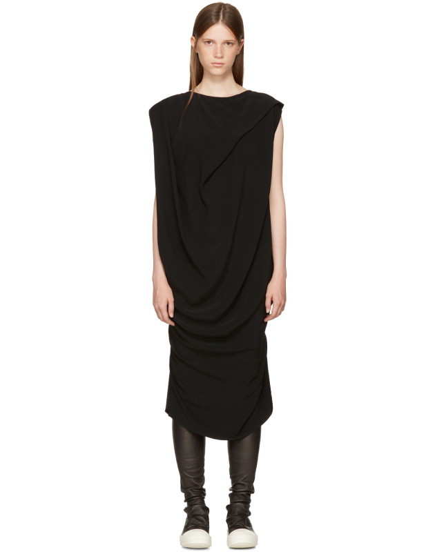 photo Black Nouveau Dress by Rick Owens - Image 1