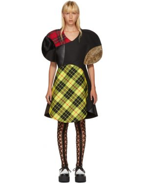 photo Multicolor Wool Tartan Mix Dress by Junya Watanabe - Image 1