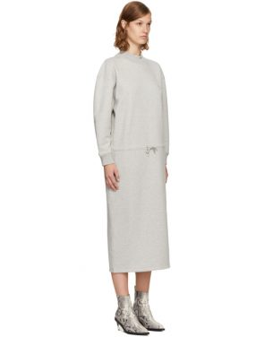 photo Grey Mock Neck Sweatshirt Dress by Opening Ceremony - Image 2
