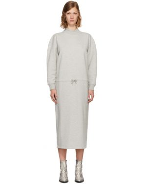 photo Grey Mock Neck Sweatshirt Dress by Opening Ceremony - Image 1