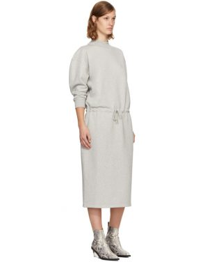 photo Grey Mock Neck Sweatshirt Dress by Opening Ceremony - Image 4