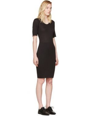 photo Black Jersey Fitted Dress by Raquel Allegra - Image 2