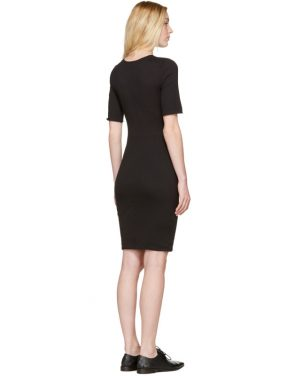 photo Black Jersey Fitted Dress by Raquel Allegra - Image 3