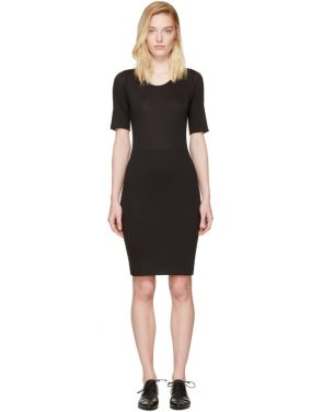 photo Black Jersey Fitted Dress by Raquel Allegra - Image 1
