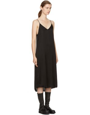 photo Black Silk Slip Dress by Raquel Allegra - Image 2