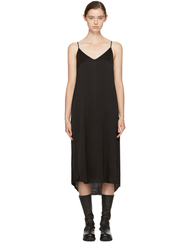 photo Black Silk Slip Dress by Raquel Allegra - Image 1