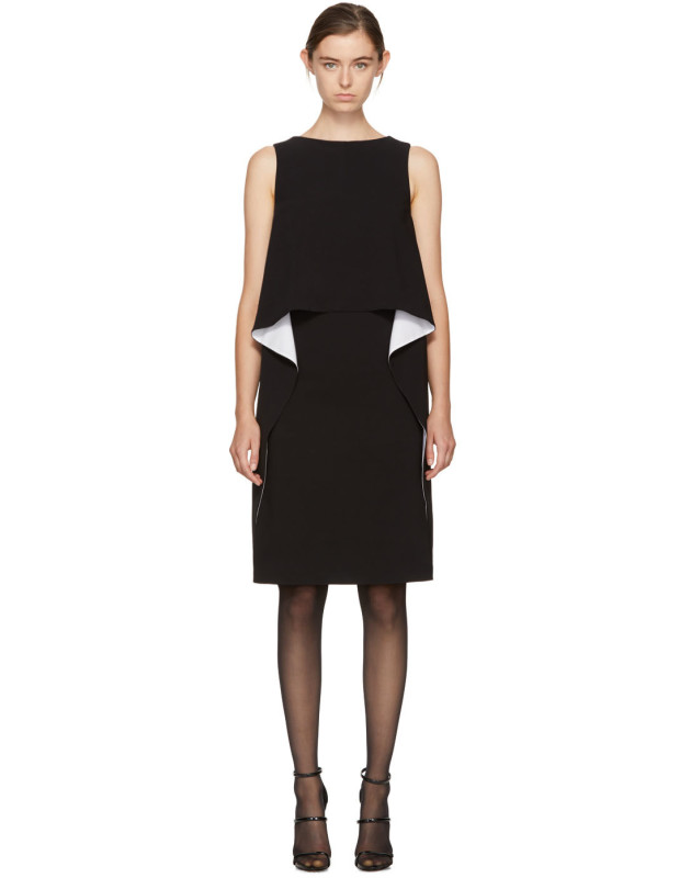 photo Black and White Draped Dress by Givenchy - Image 1