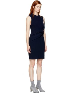 photo Navy Draped Twist Dress by 3.1 Phillip Lim - Image 2