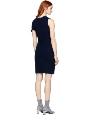 photo Navy Draped Twist Dress by 3.1 Phillip Lim - Image 3