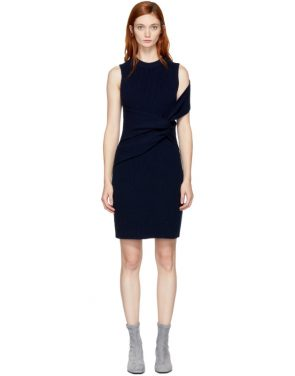 photo Navy Draped Twist Dress by 3.1 Phillip Lim - Image 1