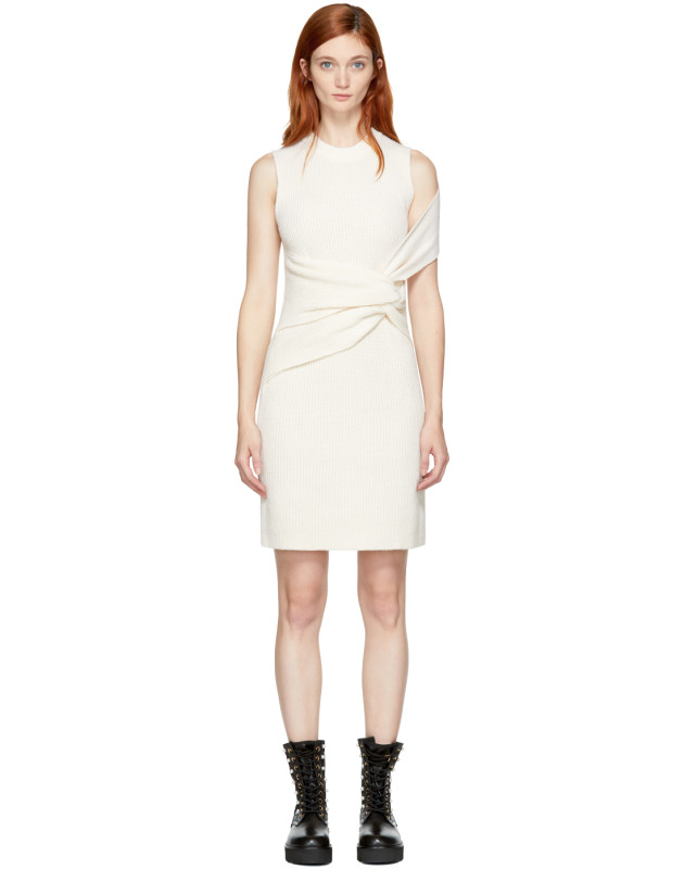 photo Off-White Draped Twist Dress by 3.1 Phillip Lim - Image 1