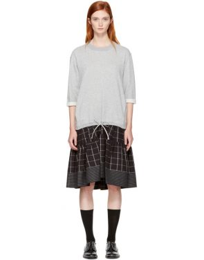 photo Grey French Terry Combo Dress by 3.1 Phillip Lim - Image 1