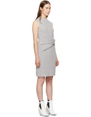 photo Grey Draped Ribbed Twist Dress by 3.1 Phillip Lim - Image 2