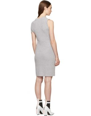 photo Grey Draped Ribbed Twist Dress by 3.1 Phillip Lim - Image 3