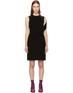 photo Black Ribbed Twist Dress by 3.1 Phillip Lim - Image 1