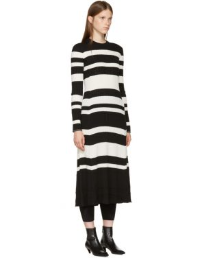 photo Black and Off-White Striped Knit Dress by Proenza Schouler - Image 2