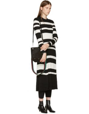 photo Black and Off-White Striped Knit Dress by Proenza Schouler - Image 4