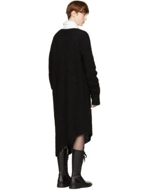 photo Black Mohair Trapper Dress by Ann Demeulemeester - Image 3