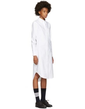 photo White Classic Shirt Dress by Thom Browne - Image 2
