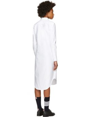 photo White Classic Shirt Dress by Thom Browne - Image 3