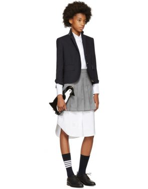 photo White Classic Shirt Dress by Thom Browne - Image 5