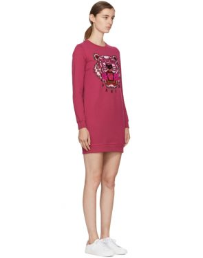 photo Pink Tiger Sweatshirt Dress by Kenzo - Image 2