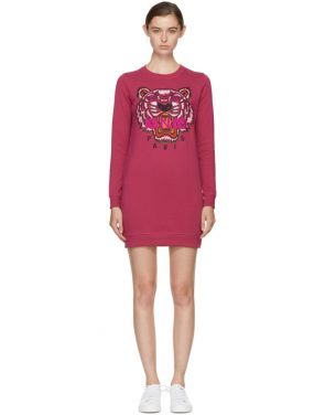 photo Pink Tiger Sweatshirt Dress by Kenzo - Image 1