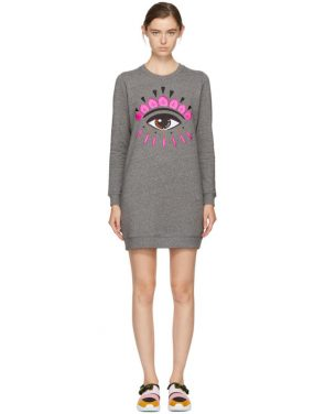 photo Grey Eye Sweatshirt Dress by Kenzo - Image 1