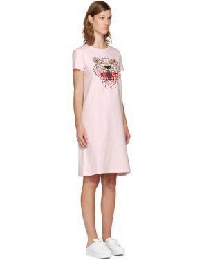 photo Pink Limited Edition Tiger T-Shirt Dress by Kenzo - Image 2