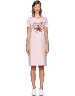 photo Pink Limited Edition Tiger T-Shirt Dress by Kenzo - Image 1