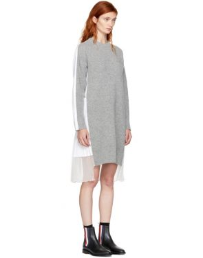 photo Grey and White Classic Shirting Dress by Sacai - Image 2