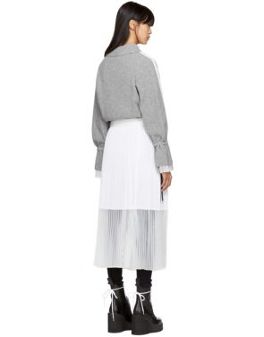 photo Grey Sport Knit Dress by Sacai - Image 3