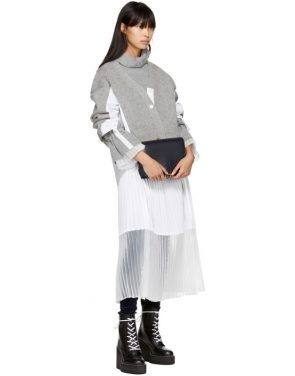 photo Grey Sport Knit Dress by Sacai - Image 4