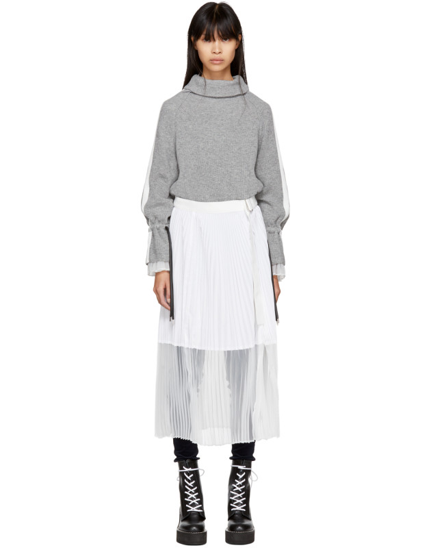 photo Grey Sport Knit Dress by Sacai - Image 1