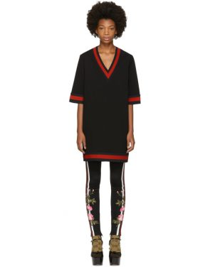 photo Black Stretch Viscose Web Dress by Gucci - Image 1