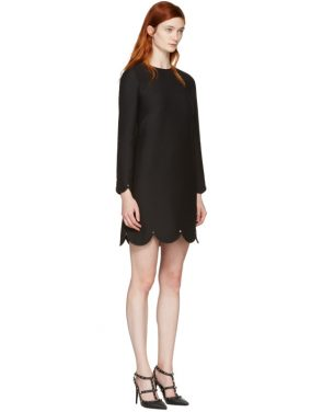 photo Black Scallop Rockstud Dress by Valentino - Image 2