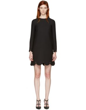 photo Black Scallop Rockstud Dress by Valentino - Image 1