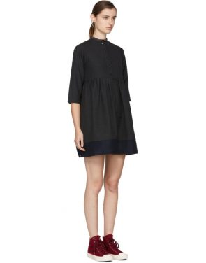 photo Grey Lancaster Band Collar Dress by Visvim - Image 2