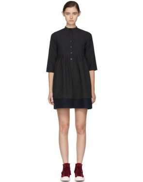 photo Grey Lancaster Band Collar Dress by Visvim - Image 1