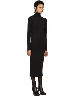 photo Black Nagel Turtleneck Dress by Haider Ackermann - Image 2