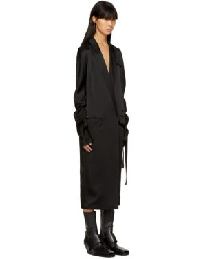 photo Black Kuipur Wrap Dress by Haider Ackermann - Image 2