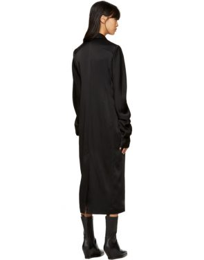 photo Black Kuipur Wrap Dress by Haider Ackermann - Image 3