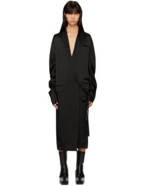 photo Black Kuipur Wrap Dress by Haider Ackermann - Image 1