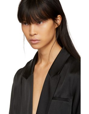 photo Black Kuipur Wrap Dress by Haider Ackermann - Image 4
