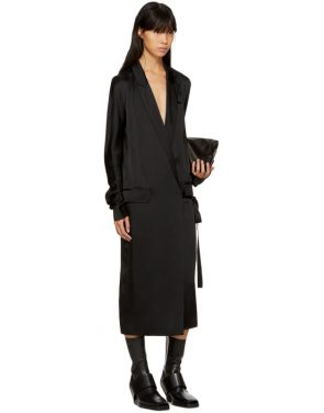 photo Black Kuipur Wrap Dress by Haider Ackermann - Image 5