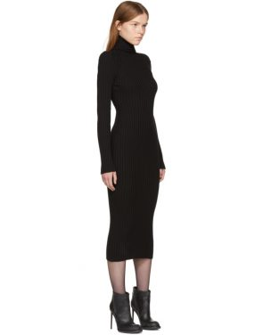 photo Black Ribbed Stormont Dress by Haider Ackermann - Image 2