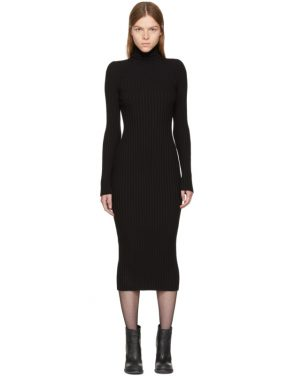 photo Black Ribbed Stormont Dress by Haider Ackermann - Image 1