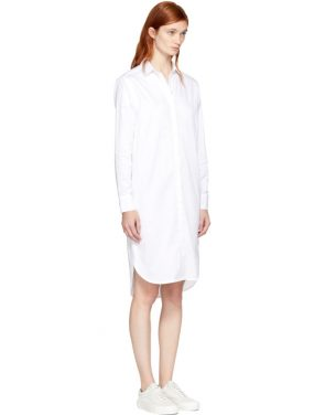 photo White Gabrielle Shirt Dress by Won Hundred - Image 2